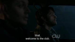"""""""Ờm... Vậy thì chào mừng anh đến với câu lạc bộ *con người*"""" - Dean khó xử nói."""