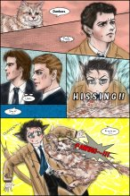 supernatural_s8_08_gag_manga___cass_vs__cat_by_noji1203-d5msdzb