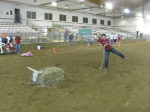A club activity, Ag Olympics. Students compete in Ag related events.