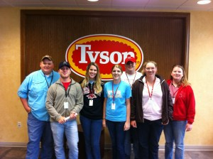 On a field trip to a Tyson meat plant. That's me on the far right.