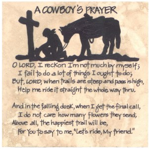 cowboy prayer perseverance struggles