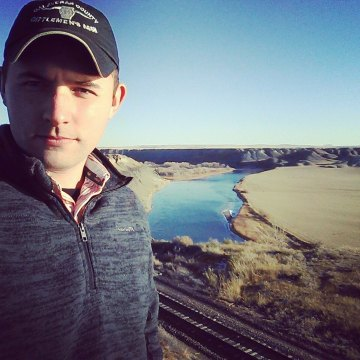 Missouri River Fort Benton Montana overlook selfie