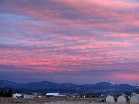Montana Sunset Mountains