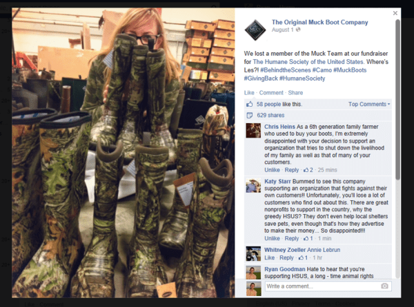 Updated: Muck Boots Sleeps While Social Media Lights Up Over HSUS Fundraiser | #WhatTheMuck