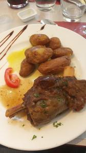 This lamb shank meal was served at what looked like the equivalent of our Denny's or a truck stop. French take their food and dining experiences seriously!