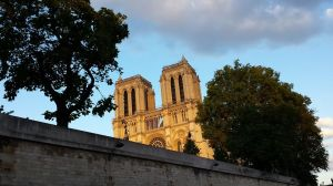 Notre Dame as seen from the river boat ride through Paris.