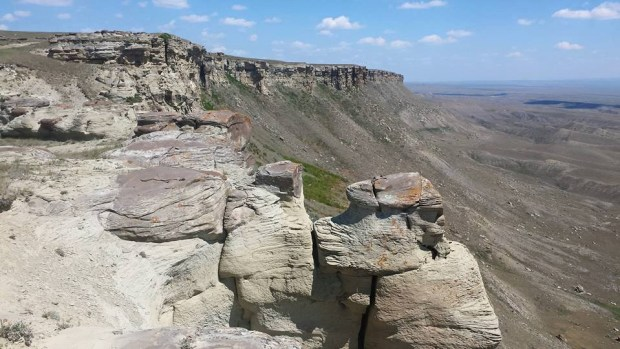 View of the rim rocks on the Gillespie's ranch near the Canadian border in Northern Montana.
