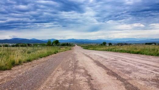 helena montana running dirt road