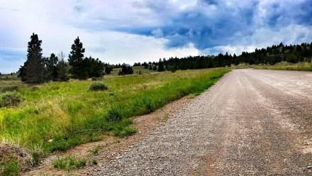 running helena montana dirt road