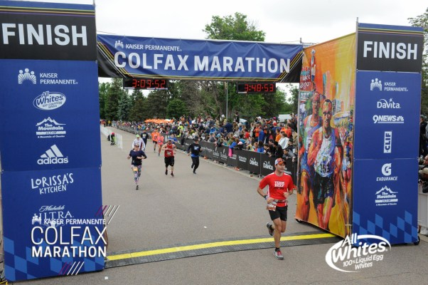 2018 Denver Colfax Marathon Finish Line