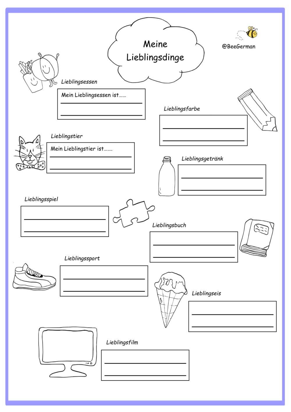 medium resolution of German worksheets for Kids - Printouts - BeeGerman