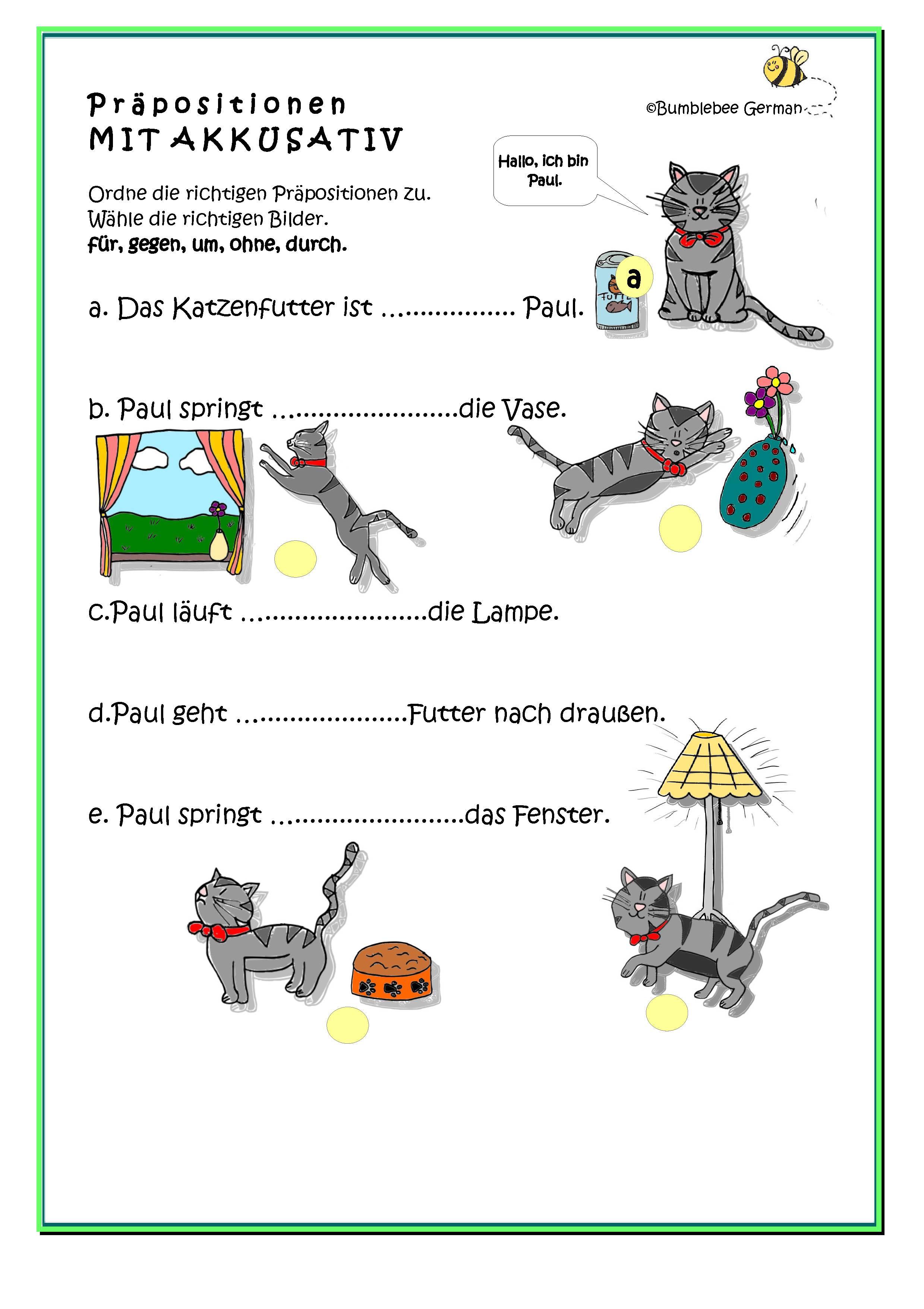 Accusative German Worksheet