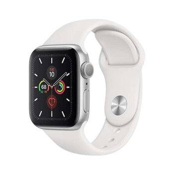 Apple Watch Series 5 40mm GPS <br>aluminium silver color, white sport band