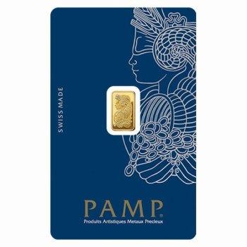 Gold bar 1g PAMP