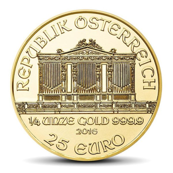 vienna philharmonics 25 Eur 1/4 OZ gold coin
