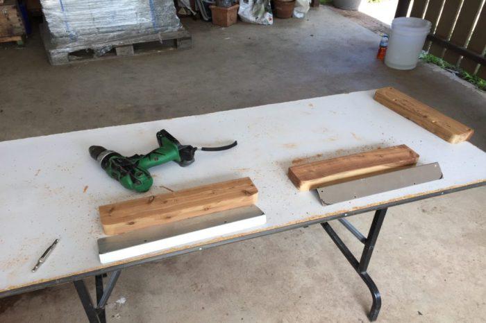 Arbeitsplatz für Vorbohren von Eukalyptusholz