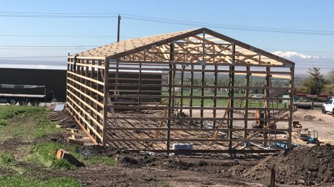 Pole Barn Hay Building - Beehive Buildings - 36'x96'x14'
