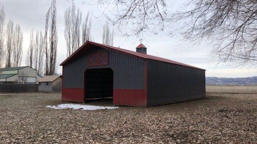 Pole Barn Storage Building - Beehive Buildings - 33'x50'x12'