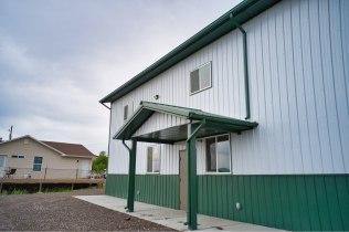 Pole Barn Shop & Office - Beehive Buildings - 65x120x18
