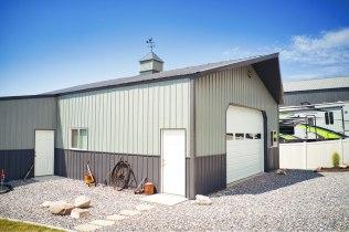 Pole Barn Garage - Beehive Buildings - 30x40x12