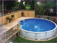 Landscaping Around Above Ground Pool | Bee Home Plan ...