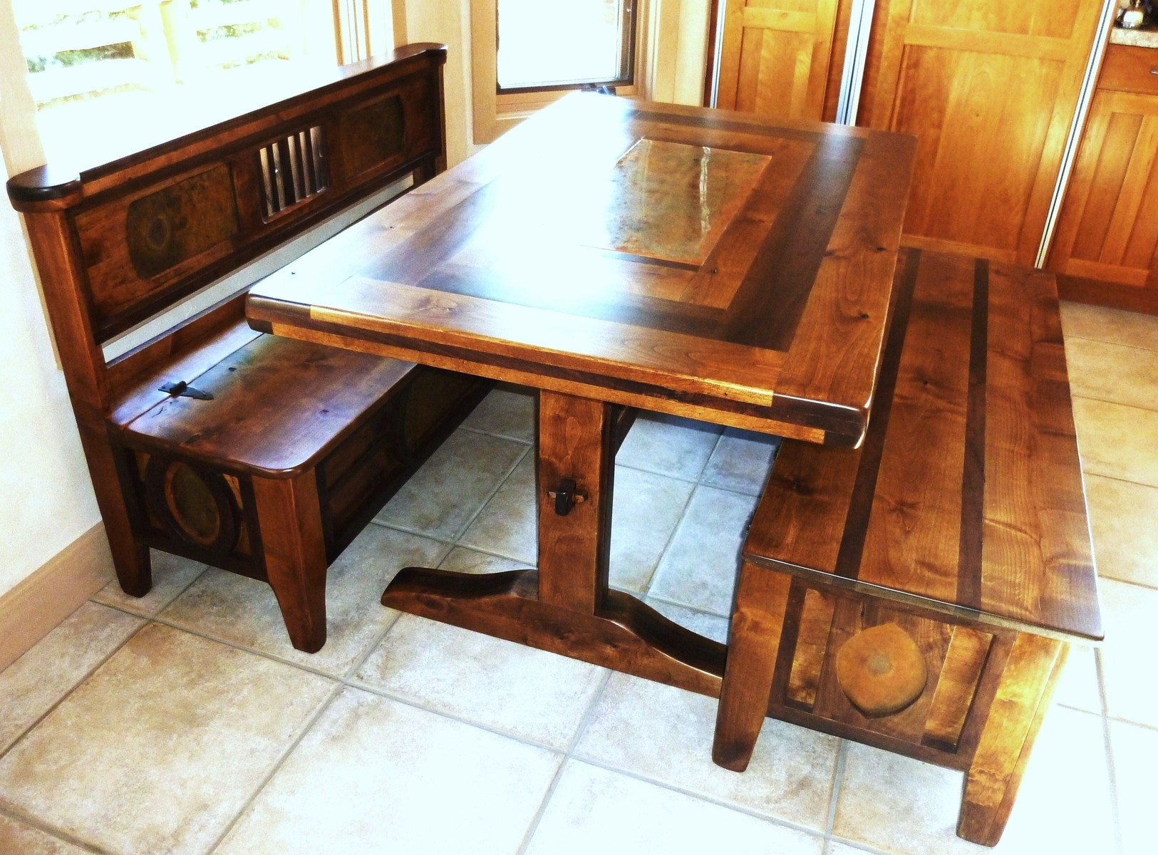 kitchen table with bench and chairs how much does a remodel cost storage bee home plan