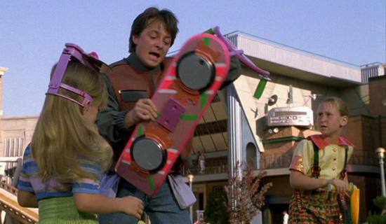 Le hoverboard de Retour vers le futur