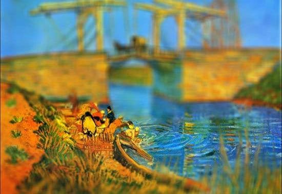 Van Gogh Tilt Shift Pont de Langlois