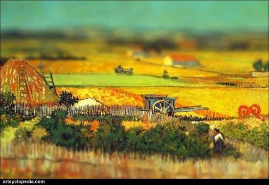 Van Gogh Tilt Shift Le champs