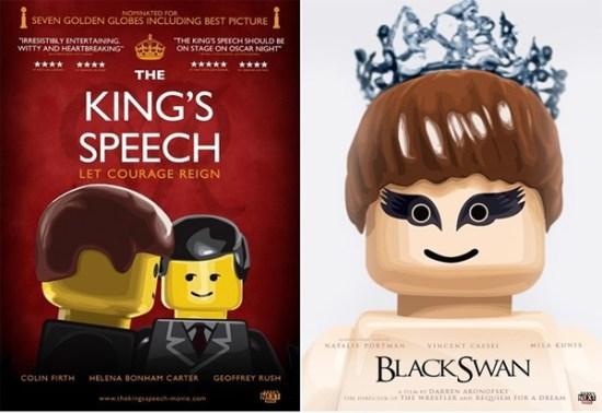 Affiche des films nominés aux Oscar en LEGO