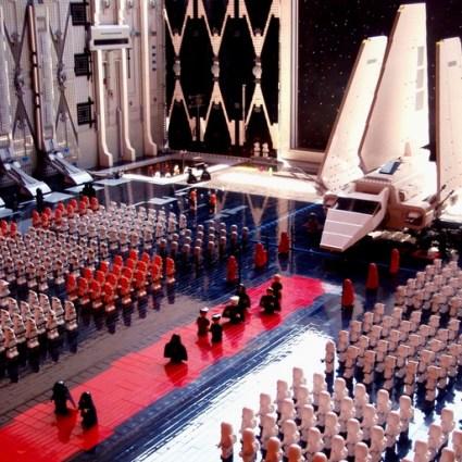 L'arrivée de l'empereur sur l'étoile de la mort en LEGO