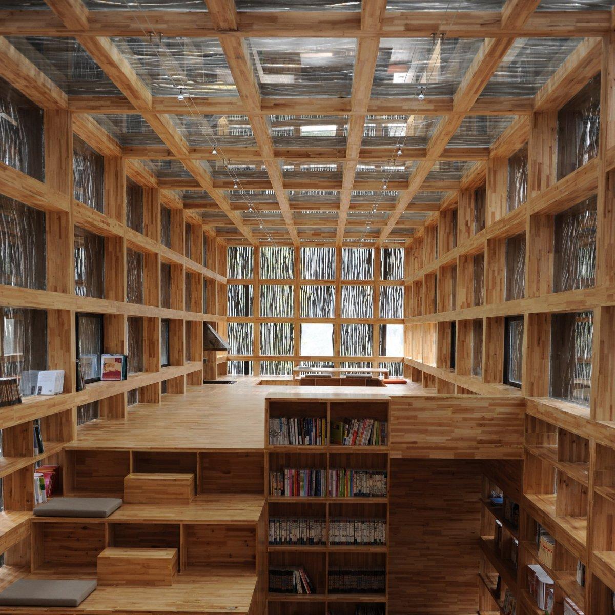 Librairie Liyuan par les ateliers Li Xiaodong