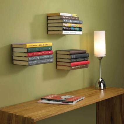 Invisible bookshelf by Umbra