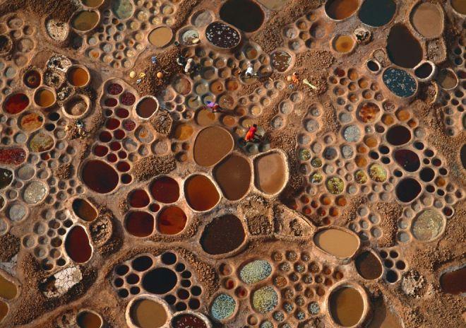 Saltwater Pools, Niger by George Steinmetz