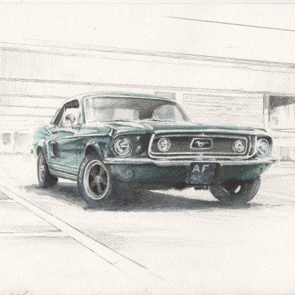 Automobiles en peinture / Emmanuel Mergault