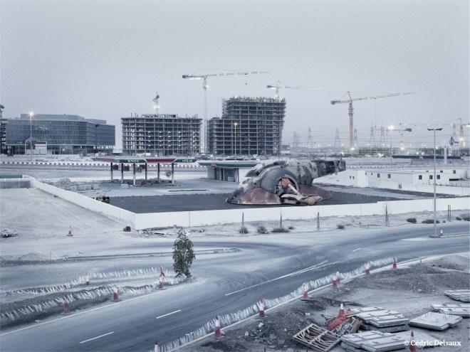 Slave 1's Car Park, Dubai, 2009 - Dark Lens - Cédric Delsaux