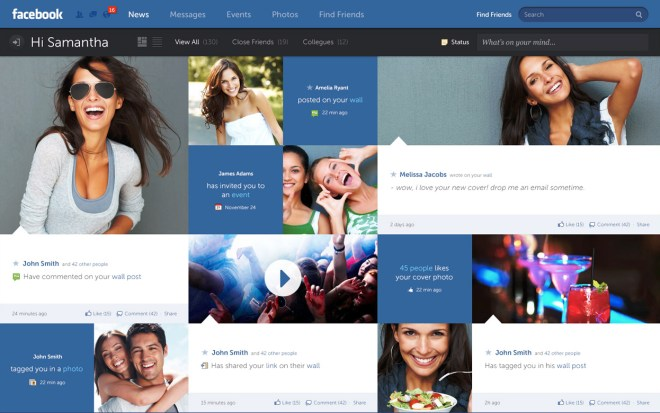 Facebook style by Fred Nerby