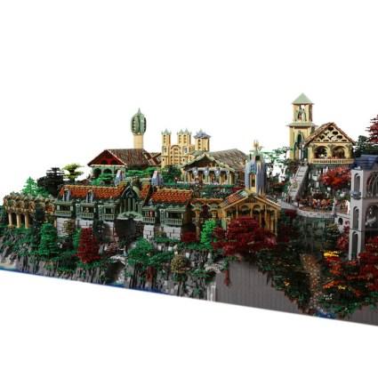 Fondcombe réalisé avec 200.000 briques de LEGO