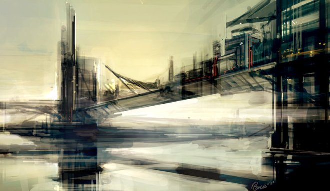 City Sketch - Bridge City - Ben Lo