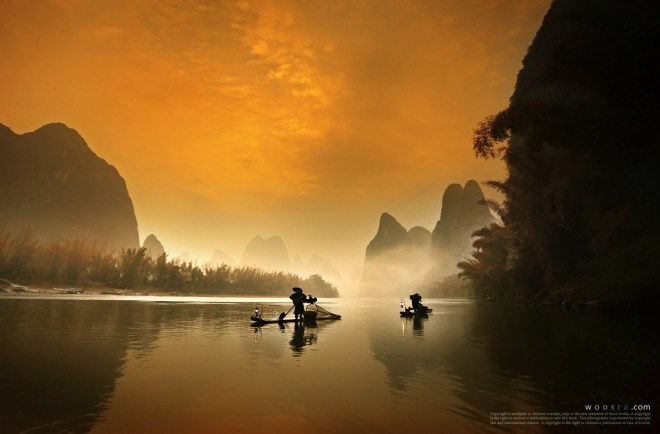 The Morning Fisherman in Guilin