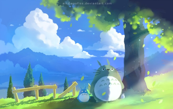 Totoro Summer by Rihards Donskis aka Apofiss