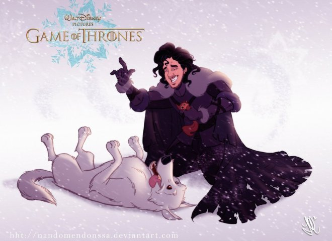 Jon Snow GOT Disney by Fernando Mendonca 71846937