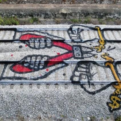 Artur Bordalo sur les rails du Street Art