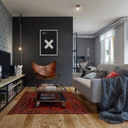 Un appartement éclectique complètement ouvert