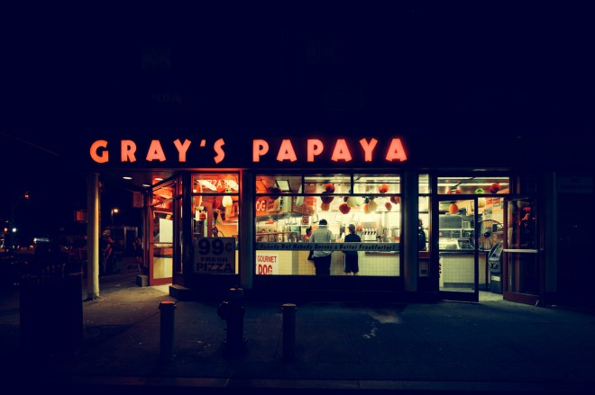 Gray's Papaya, New York City, 2014