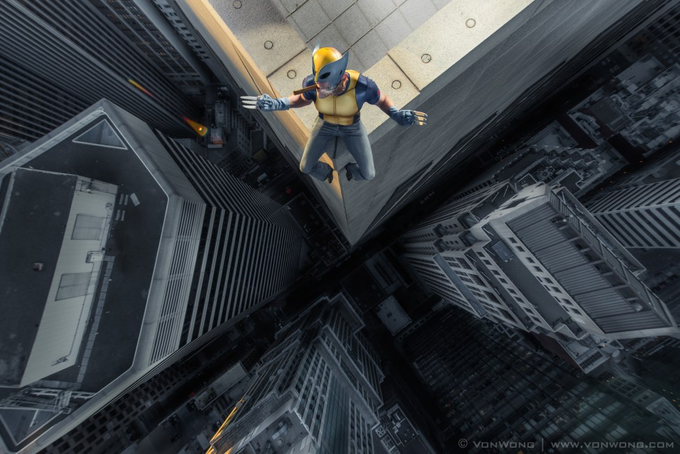 Wolverine - Superheroes on Skyscrapers by Von Wong