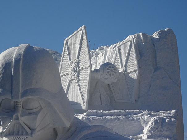 star wars geant neige sapporo festival 2520606