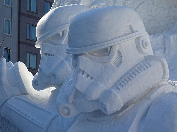 star wars geant neige sapporo festival 3918096