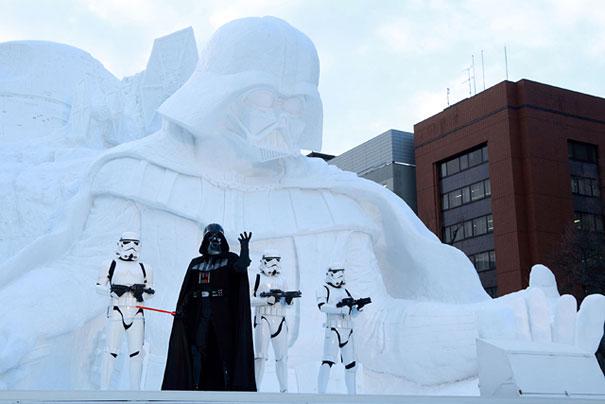 star wars geant neige sapporo festival 4616841