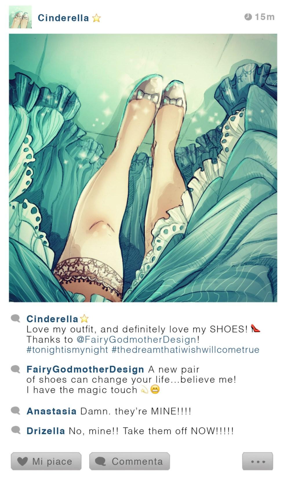 Cendrillon - Cendrillon  - Disney Selfie - Simona Bonafini